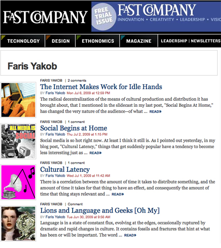 Fastcompany guest blogging