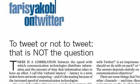 Tweet or not admap