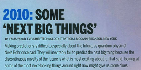 Some Next Big Things