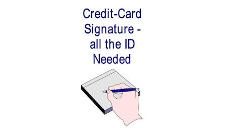 Credit card sig