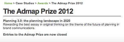 Admap prize